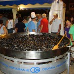 Mussels for sale at Porec End-of-Season Party
