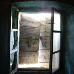 Shuttered landing window