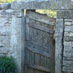Quirky gate in Tinjan, Istria