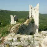 The ruined tower of Dvigrad, Istria