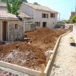 Garden works at Kovaci, Istria