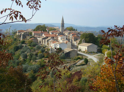 Draguc in Autumn - just one of Istria's inland gems