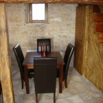 furnished dining area with chair in Kovaci, Istria