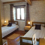 furnished twin bedroom in Kovaci, Istria
