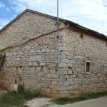 Back of barn before work began in Kovaci, Istria