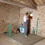 bathroom starts going in in Kovaci, Istria