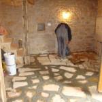 Work starts on the groundfloor's stone floor