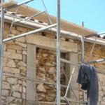 Work starts on the upstairs window in Kovaci, Istria