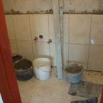tiling the 1st floor hower-room in Kovaci, Istria