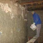 Miro plastering in Kovaci, Istria