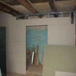 walls are installed for the family shower-room in Kovaci, Istria