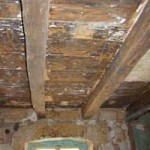 cleaned beams, ready for painting in Kovaci, Istria