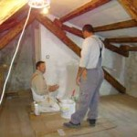 painting attic in Kovaci, Istria