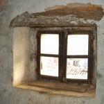 one of four attic windows in attic, Kovaci, Istria
