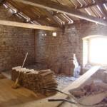 empty 1st floor of barn in Kovaci, Istria