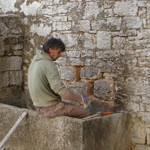creating window in barn in Kovaci, Istria