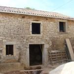 window openings are in barn in Kovaci, Istria