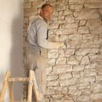 stone cleaning inside of barn, Kovaci, Istria