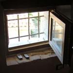 new bars & window on attic window in Kovaci, Istria