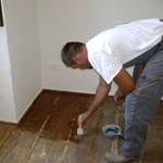 varnishing bedroom floor in Kovaci, Istria
