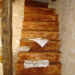 stairs are in place in Kovaci, Istria