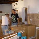installing the kitchen in Kovaci, Istria