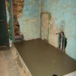 concrete floor is laid in 1st floor shower room in Kovaci, Istria