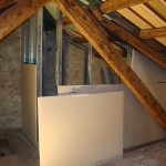 walls going up in ensuite shower-room in Kovaci, Istria