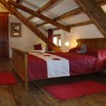 master bedroom in Kovaci, Istria after restoration