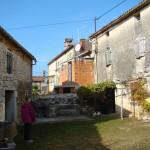house & barn before work, Kovaci, Istria