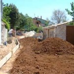 top soil arrives & path starts in Kovaci, Istria