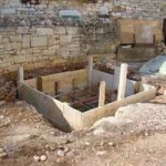 septic tank being built in Kovaci, Istria