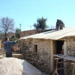 outhouse roof being replaced in Kovaci, Istria