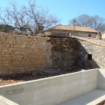 concrete for the pool walls in Kovaci, Istria