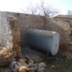 half demolished cart-shed in Kovaci, Istria