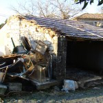 cart-shed before work & rubbish, Kovaci, Istria