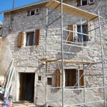 house repointed and plastered in Kovaci, Istria