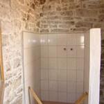 outdoor wet-room shower being built in Kovaci, Istria