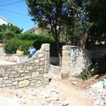 garden wall in Kovaci, Istria
