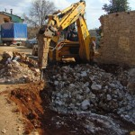 hole digging with JCB in Kovaci, Istria