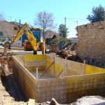 formers in place for pool walls in Kovaci, Istria