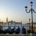 Venice seafront at St. Mark's square in early morning
