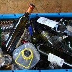 Box with a few of my bottles needing recycling in Istria