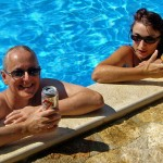 P&S in pool, Istria