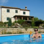 Relaxing in my Istrian swimming pool