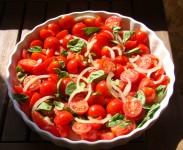 Cherry tomatoes in balsamic viniagrette