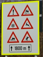 Sign showing what a dangerous road we live down