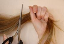 Scissor nightmare - long hair being hacked short