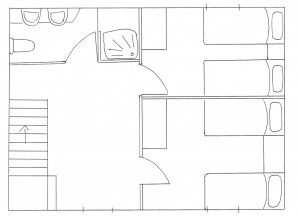 1st floor plan of house in Kovaci, Istria