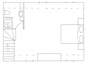 Attic plan in Kovaci house, Istria